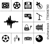 record icons. set of 13... | Shutterstock .eps vector #778348780