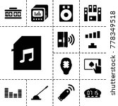 electronic icons. set of 13... | Shutterstock .eps vector #778349518
