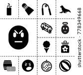ball icons. set of 13 editable... | Shutterstock .eps vector #778349668