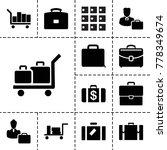 case icons. set of 13 editable...   Shutterstock .eps vector #778349674