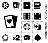 gamble icons. set of 13...   Shutterstock .eps vector #778349683