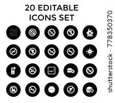 prohibition icons. set of 20... | Shutterstock .eps vector #778350370