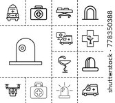 ambulance icons. set of 13... | Shutterstock .eps vector #778350388
