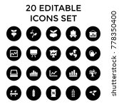 growing icons. set of 20...   Shutterstock .eps vector #778350400