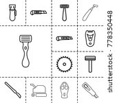 cutter icons. set of 13... | Shutterstock .eps vector #778350448