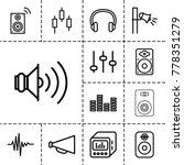 volume icons. set of 13... | Shutterstock .eps vector #778351279