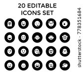 smiley icons. set of 20... | Shutterstock .eps vector #778351684