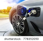 ev car or electric car at... | Shutterstock . vector #778352050