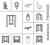 swing icons. set of 13 editable ... | Shutterstock .eps vector #778352620