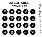 needle icons. set of 20... | Shutterstock .eps vector #778352644
