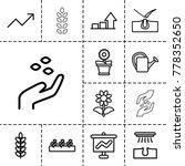 grow icons. set of 13 editable...   Shutterstock .eps vector #778352650