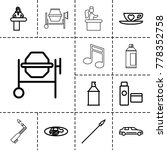 clipart icons. set of 13... | Shutterstock .eps vector #778352758