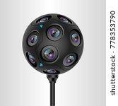 360 camera  vector eps 10  | Shutterstock .eps vector #778353790