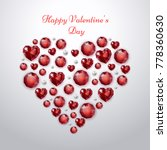valentines day greeting card... | Shutterstock .eps vector #778360630