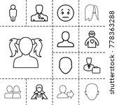 avatar icons. set of 13... | Shutterstock .eps vector #778363288