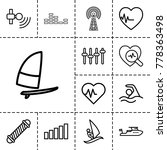wave icons. set of 13 editable... | Shutterstock .eps vector #778363498