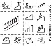 stair icons. set of 13 editable ... | Shutterstock .eps vector #778363606