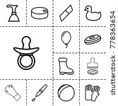 rubber icons. set of 13... | Shutterstock .eps vector #778363654
