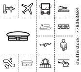 passenger icons. set of 13... | Shutterstock .eps vector #778363684