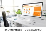 computer with e learning... | Shutterstock . vector #778363960