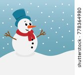 snowman vector illustration | Shutterstock .eps vector #778364980