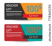 voucher gift template design  | Shutterstock .eps vector #778365250