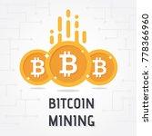 golden bitcoin digital currency ...   Shutterstock .eps vector #778366960