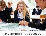 group of teenage students... | Shutterstock . vector #778368196