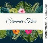 green summer tropical... | Shutterstock .eps vector #778368250