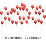balloons group isolated vector... | Shutterstock .eps vector #778380604