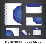 blue and white stationery... | Shutterstock .eps vector #778382878