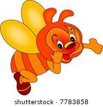 happy bee | Shutterstock .eps vector #7783858
