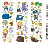 pirate adventures pirate party...   Shutterstock .eps vector #778386130