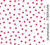 cute little hearts in seamless... | Shutterstock .eps vector #778391698