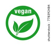 icon for vegan food | Shutterstock .eps vector #778392484