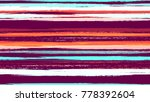 stripes in watercolor grunge... | Shutterstock .eps vector #778392604