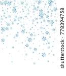 snowflake macro vector...   Shutterstock .eps vector #778394758