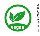 icon for vegan food | Shutterstock .eps vector #778394854