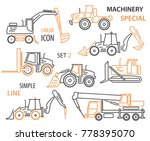 construction equipment and... | Shutterstock .eps vector #778395070