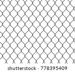 seamless texture metal wire... | Shutterstock .eps vector #778395409