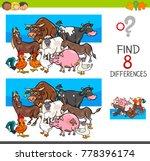 cartoon illustration of finding ... | Shutterstock .eps vector #778396174