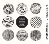 hand drawn textures   brushes.... | Shutterstock .eps vector #778396576