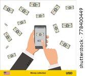 mobile banking concept. dollar... | Shutterstock .eps vector #778400449
