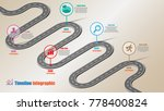 business road map timeline... | Shutterstock .eps vector #778400824