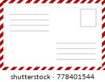 postcard  the reverse side.... | Shutterstock .eps vector #778401544