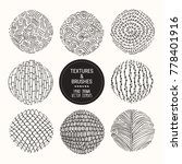 hand drawn textures   brush... | Shutterstock .eps vector #778401916