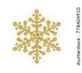gold glitter christmas... | Shutterstock . vector #778404910
