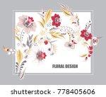 stock vector floral bouguet... | Shutterstock .eps vector #778405606