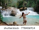 a girl asian tourist at kuang... | Shutterstock . vector #778406914