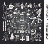 big set of christmas doodles | Shutterstock . vector #778408600